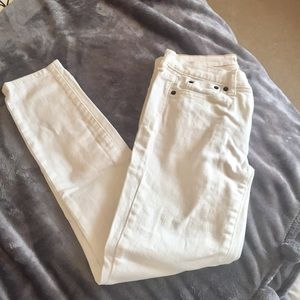 J Crew Never worn white skinny jeans